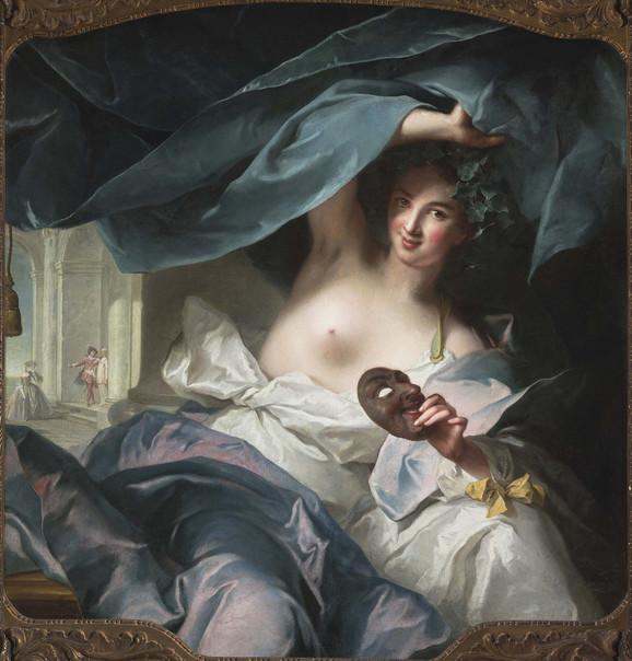 Žan-Mark Natije, Talija, muza komedije, 1739.