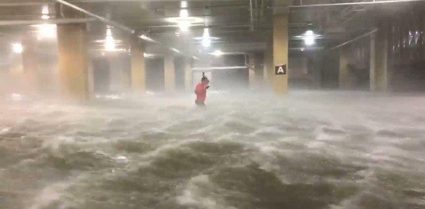 Przerażające nagranie z podziemnego parkingu
