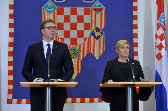 Aleskandar Vučić i Kolinda Grabar Kitarović