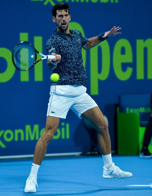 Novak Đoković na turniru u Dohi