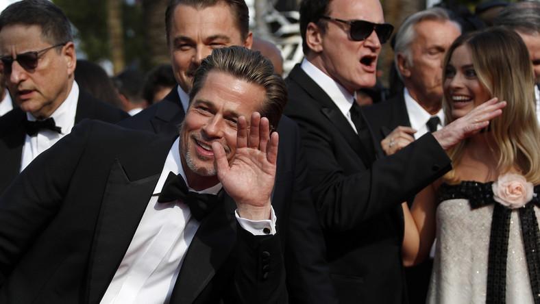 """Brad Pitt i Quentin Tarantino na premierze """"Pewnego razu... w Hollywood"""""""