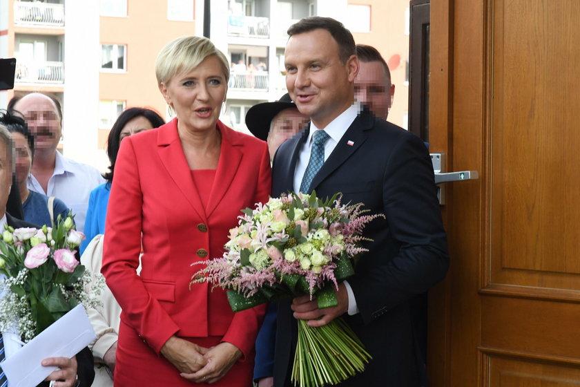 Para prezydencka - Andrzej Duda wraz z małżonką Agatą