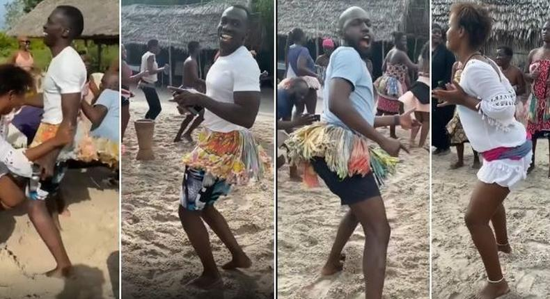Video of Larry Madowo & Trevor Ombija dancing in traditional costumes lights up Social Media