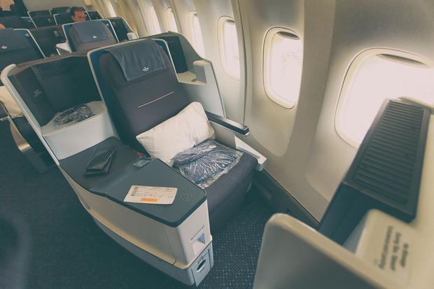 KLM 747, fotel 1A