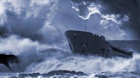 Sztorm kontra statek. Marynarz nagrał moment, gdy okręt walczy z gigantycznymi falami