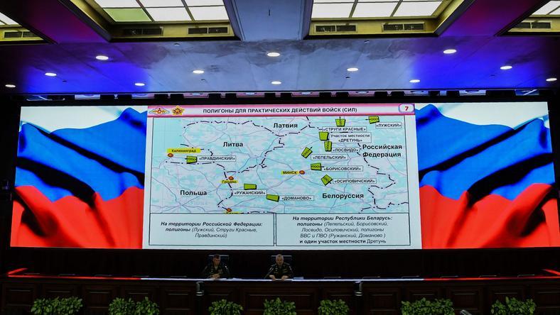 Konferencja prasowa przed manewrami Zapad-2017