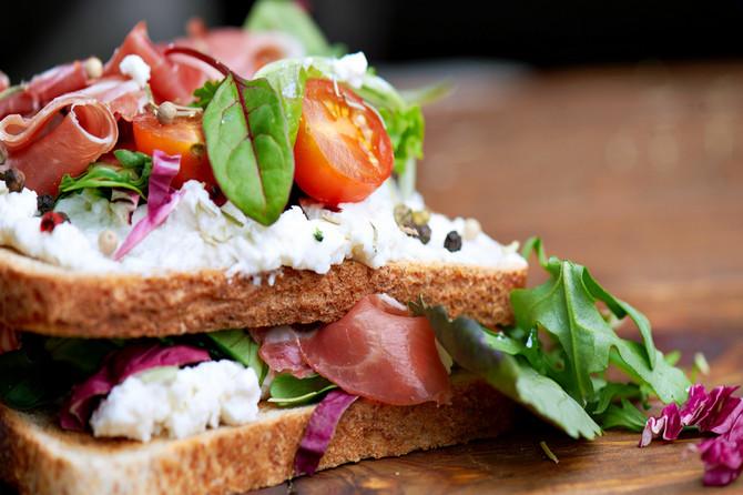Slasni, kremasti sendvič za vrelo veče