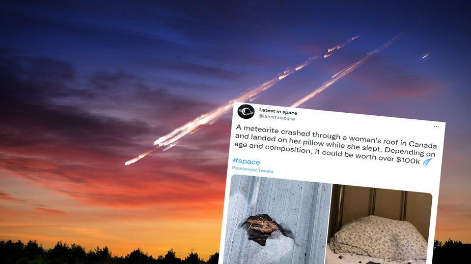W Kanadzie kobieta znalazła w swoim łóżku meteoryt