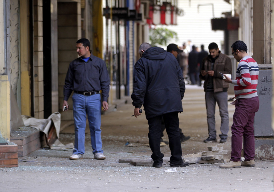 EGYPT UNREST BOMBING (Bomb explosion in Cairo )