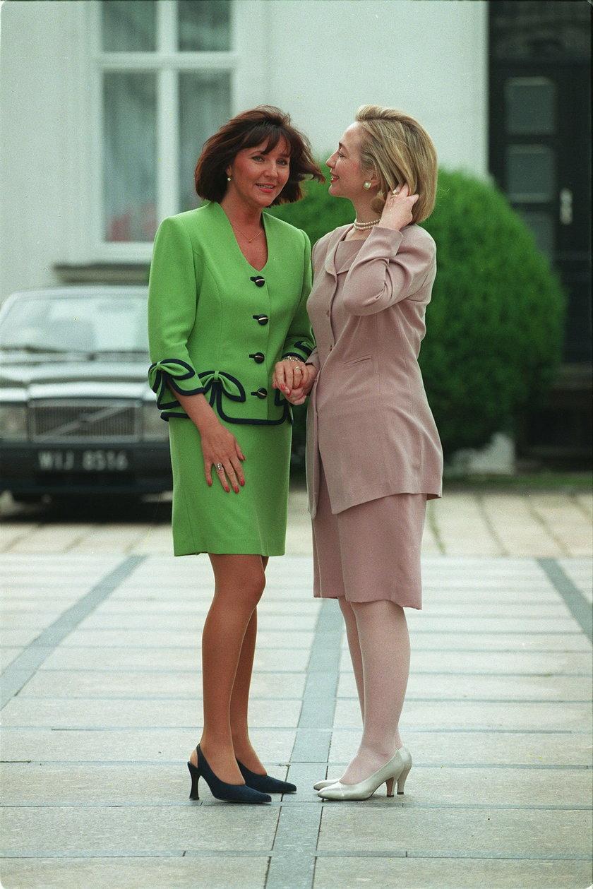 Jolanta Kwaśniewska i Hilary Clinton