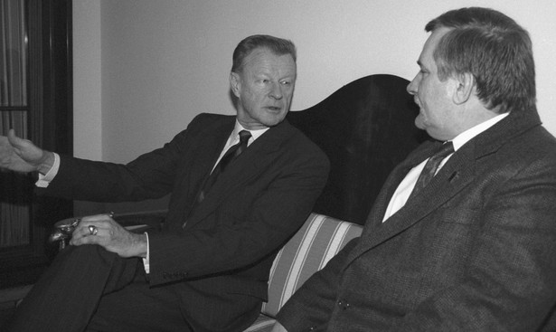 Spotkanie Brzezińskiego z Wałęsą