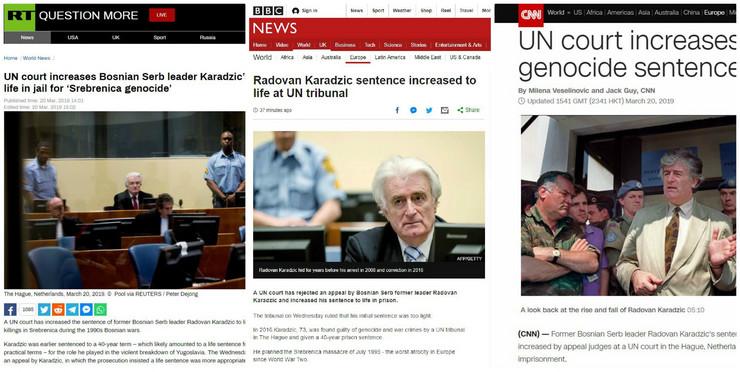 Kolaž Karadžić svetski mediji