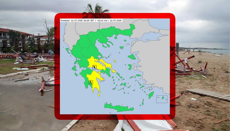 grcka mapa kombo RAS foto meteoalarm com, EPA  Ververidis Vassilis