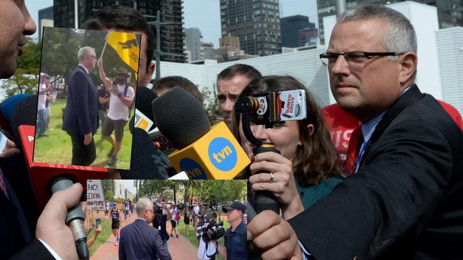 """Korespondent TVN w USA zaatakowany przez tłum. """"Na wojnie nie miałem takiej sytuacji"""""""