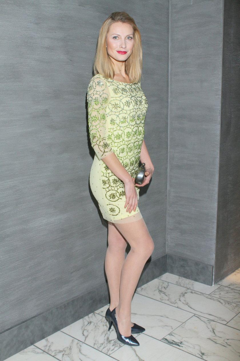 Joanna Moro w zielonej sukience