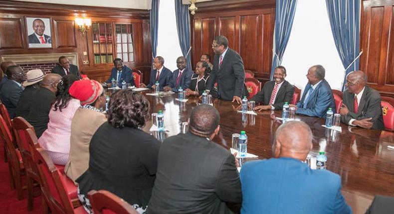 Building Bridges taskforce with President Uhuru Kenyatta and former Prime Minister Raila Odinga