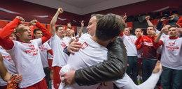 Tak prezydent Duda świętował z piłkarzami