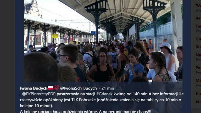 Ludzie utknęli na gdańskim dworcu
