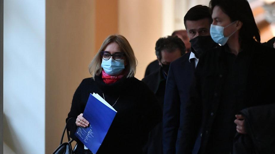 Magdalena Adamowicz podczas procesu w lutym