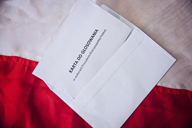 Głosowanie korespondencyjne. Wybory prezydenckie. Karta do głosowania