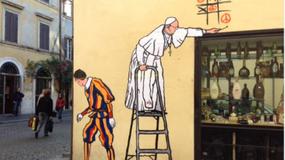 Rzym: niezadowolenie po usunięciu muralu z papieżem Franciszkiem
