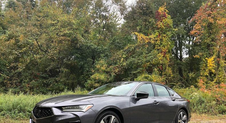 The 2021 Acura TLX has a dynamic exterior.