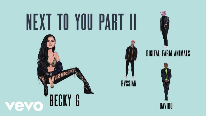 Davido features on 'Next To You II' by Becky G. (Vevo/BeckyG)