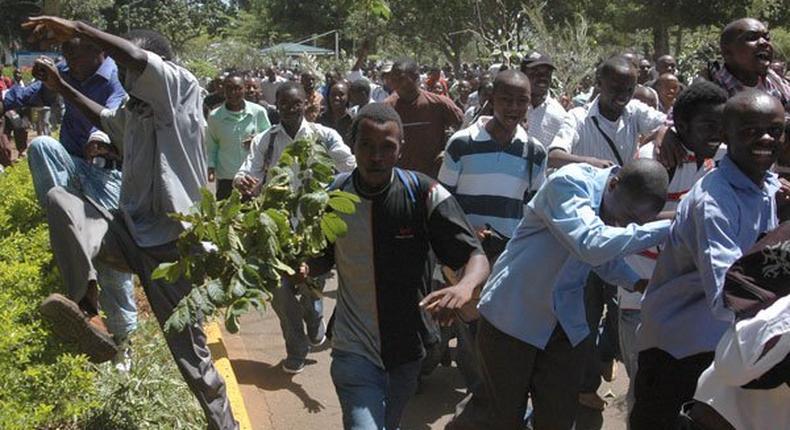 KU Students Stage Demonstrations