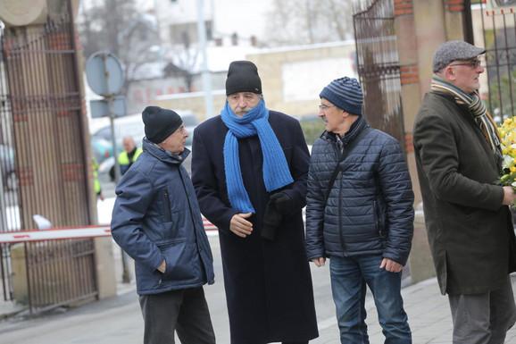 Sahrani je prisustvovao je i glumac Desimir Stanojević