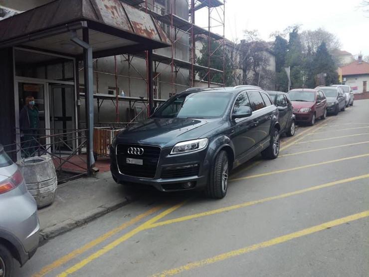 Bahato parkiranje Infektivna klinika Beograd