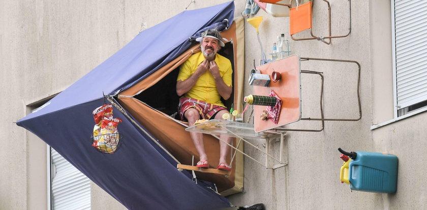 Jak on rozbił tu namiot? ZDJĘCIA