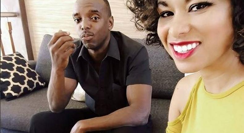 Julie and husband, Anthony Gichuru.