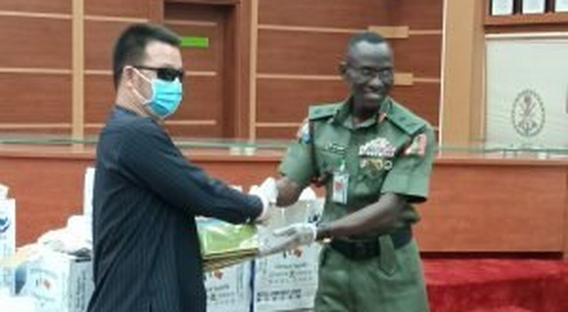 Chinese firm donates materials to Nigerian military to curb Coronavirus