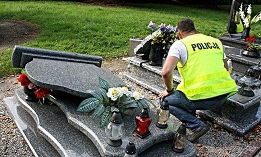 Wandal zdewastował cmentarz