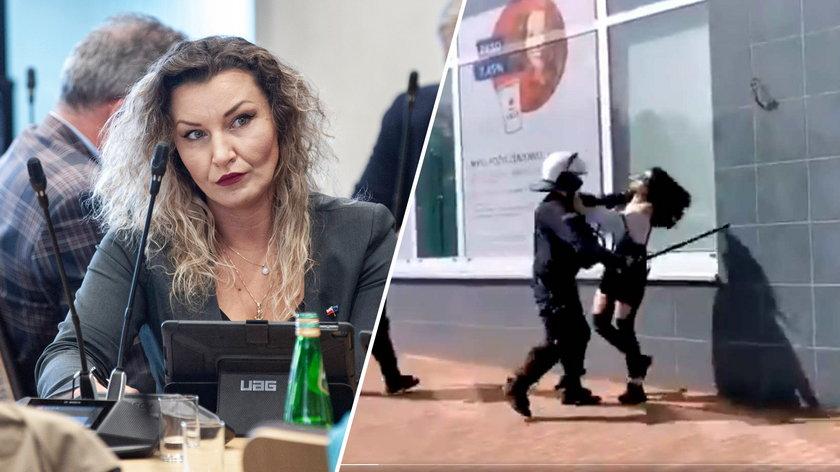 Wielka awantura o spałowaną w Głogowie kobietę. Posłanka broni brutalnego policjanta, a jeszcze niedawno...