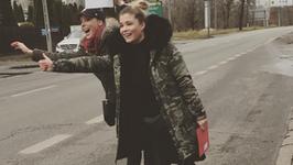 Włodarczyk i Konarowska jeździły po Warszawie autostopem! Mamy wideo