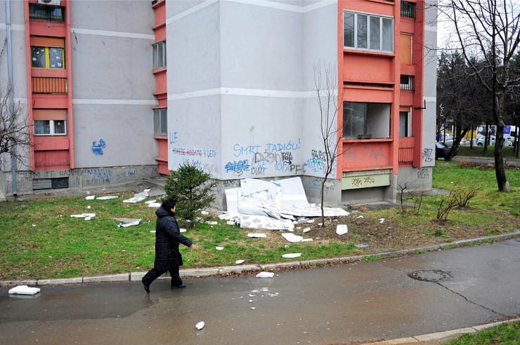 Fasada se obrušila na Vidikovačkom vencu