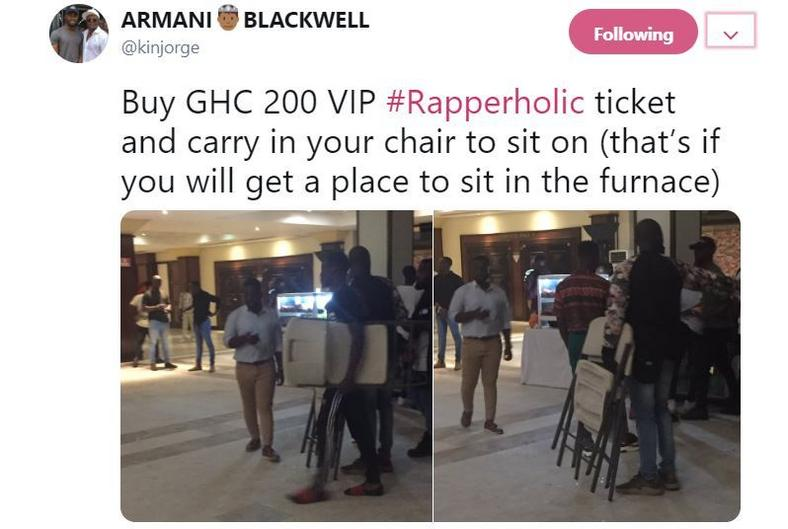 Rapperholic 2018 Tweet
