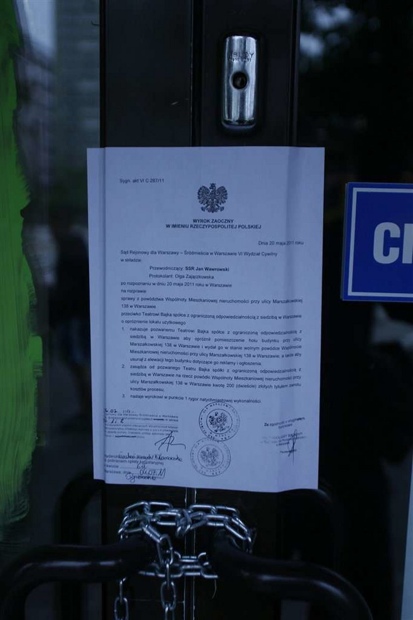 Warszawski teatr zamknięty przez sąsiadów