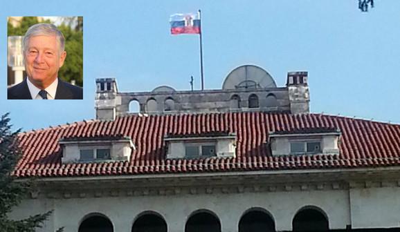 Zastava na Belom dvoru (kliknite za uvećanje +/-)