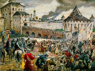 The expulsion of Polish invaders from the Moscow Kremlin, 1612 (late 19th or early 20th century). Ar
