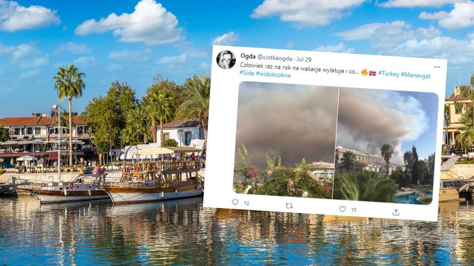 MSZ apeluje do turystów o czujność w związku z pożarami w Turcji