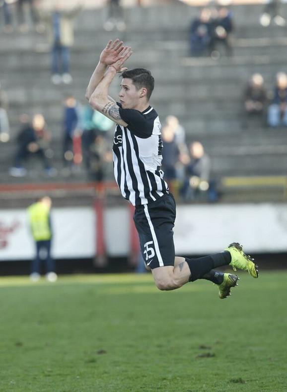 Danilo Pantić slavi gol u Kruševcu kao Kristijano Ronaldo
