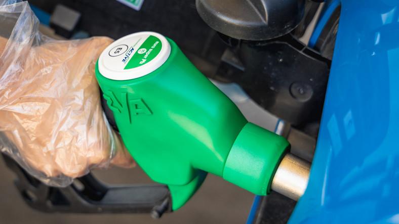 Stacja Paliw BP stacja benzynowa Dystrybutor paliwo tankowanie bak benzyna bezołowiowa Active