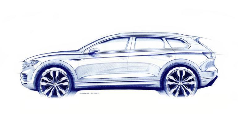 Nowy Volkswagen Touareg - szkic