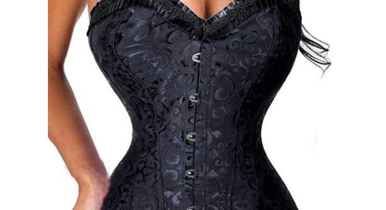 Woman wearing a corset {walmart}