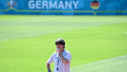 Joachim Loew insists Germany can cope with the pressure against holders Portugal at Euro 2020 Creator: CHRISTOF STACHE