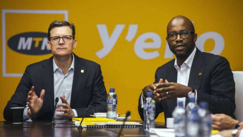 MTN Group Limited executives, Ralph Mupita and Rob Shuter