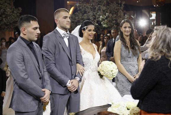 Bogdana i Veljko Ražnatović, građansko venčanje