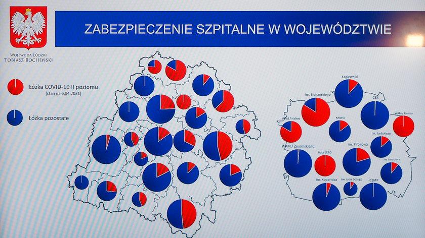 Rozkład łózek covidowych w Łódzkiem